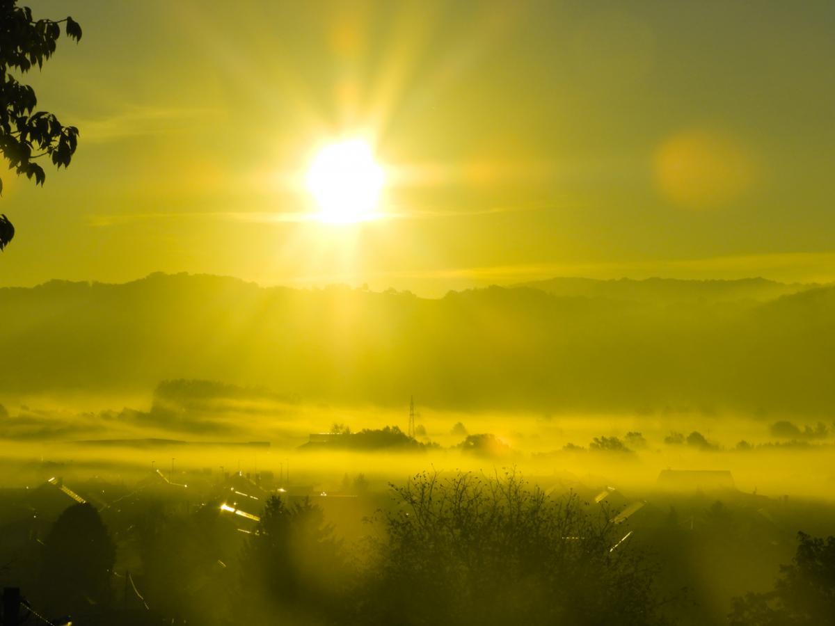 varaždinske toplice pogled magla